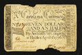 Colonial Notes:North Carolina, North Carolina April 2, 1776 $7 1/2 U.S. Flag with thirteen stripesand Union Jack Very Good-Fine.. ...