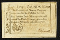 Colonial Notes:North Carolina, North Carolina December, 1771 £5 Extremely Fine-About New.. ...