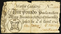 Colonial Notes:North Carolina, North Carolina April 4, 1748 £3 Very Good.. ...