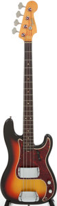 Musical Instruments:Bass Guitars, 1966 Fender Precision Bass Sunburst Electric Bass Guitar, Serial #125461....