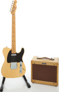Musical Instruments:Electric Guitars, 1952 Fender Telecaster and 1955 Fender Champ, Serial #s 4029 and P00068. ... (Total: 2 Items)