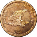 Patterns, 1858 P1C Flying Eagle Cent, Judd-206, Pollock-242, R.5, PR65 NGC....