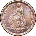 1870 3CS Three Cent Silver, Judd-798, Pollock-885, R.7, PR66 Red and Brown NGC. CAC....(PCGS# 71041)