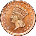 1876 G$1 Gold Dollar, Judd-1478, Pollock-1631, High R.7, PR65 Red and Brown NGC. CAC....(PCGS# 71800)
