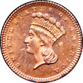 Patterns, 1871 G$1 Gold Dollar, Judd-1161, Pollock-1303, R.7, PR65 Red and Brown NGC....