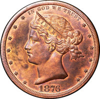 1876 $1 Sailor Head Dollar, Judd-1465, Pollock-1616, R.7, PR66+ Red and Brown NGC. CAC....(PCGS# 71787)