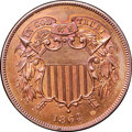1864 2C Large Motto PR65 Red and Brown NGC. CAC....(PCGS# 3622)