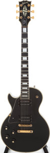 Musical Instruments:Electric Guitars, Early 1970s Gibson Les Paul Custom Black Left-Handed Solid BodyElectric Guitar, Serial # 969173. ...