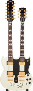 Musical Instruments:Electric Guitars, 1991 Gibson EDS-1275 Arctic White Solid Body Electric Guitar Signed by Robert Plant and Jimmy Page of Led Zeppelin, Serial # 9...