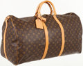Luxury Accessories:Bags, Louis Vuitton Classic Monogram Canvas Keepall Bandouliere 60Weekender Bag with Shoulder Strap. ...