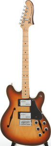 Musical Instruments:Electric Guitars, 1975 Fender Starcaster Sunburst Solid Body Electric Guitar, Serial# 560965. ...