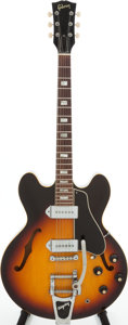 Musical Instruments:Electric Guitars, 1967 Gibson ES-330 Sunburst Semi-Hollow Body Electric Guitar,Serial # 120069....