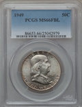 Franklin Half Dollars: , 1949 50C MS66 Full Bell Lines PCGS. PCGS Population (189/0). NGCCensus: (52/1). Numismedia Wsl. Price for problem free NG...