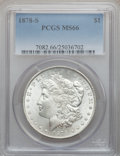 Morgan Dollars: , 1878-S $1 MS66 PCGS. PCGS Population (580/21). NGC Census:(478/27). Mintage: 9,774,000. Numismedia Wsl. Price for problem ...