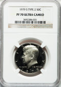 Proof Kennedy Half Dollars: , 1979-S 50C Type Two PR70 Ultra Cameo NGC. NGC Census: (30). PCGSPopulation (100). Numismedia Wsl. Price for problem free ...