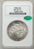 Morgan Dollars: , 1898 $1 MS65 Prooflike NGC. CAC. NGC Census: (73/9). PCGSPopulation (106/10). Numismedia Wsl. Price for problem free NGC/...