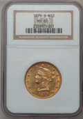 Liberty Eagles: , 1879-S $10 MS60 NGC. NGC Census: (34/77). PCGS Population (4/61).Mintage: 224,000. Numismedia Wsl. Price for problem free ...