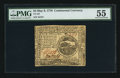 Colonial Notes:Continental Congress Issues, Continental Currency May 9, 1776 $4 PMG About Uncirculated 55.. ...
