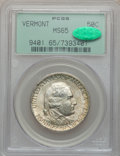 Commemorative Silver: , 1927 50C Vermont MS65 PCGS. CAC. PCGS Population (906/339). NGCCensus: (769/219). Mintage: 28,142. Numismedia Wsl. Price f...