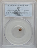 Nuggets, California Gold Rush Nuggets, .5 grams PCGS. S.S. Central America1857....