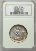 Commemorative Silver: , 1938-D 50C Texas MS67 NGC. NGC Census: (89/3). PCGS Population(78/0). Mintage: 3,775. Numismedia Wsl. Price for problem fr...