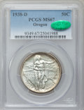 Commemorative Silver: , 1938-D 50C Oregon MS67 PCGS. CAC. PCGS Population (209/34). NGCCensus: (244/22). Mintage: 6,005. Numismedia Wsl. Price for...