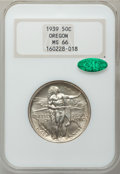 Commemorative Silver: , 1939 50C Oregon MS66 NGC. CAC. NGC Census: (304/100). PCGSPopulation (279/92). Mintage: 3,004. Numismedia Wsl. Price for p...