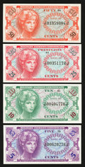 Military Payment Certificates:Series 641, Series 641 First and Second Printing Fractional Notes Gem New.. ...(Total: 4 notes)