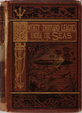 Books:Literature Pre-1900, Jules Verne. Twenty Thousand Leagues Under the Seas. SampsonLow, Marston, Low, & Searle, 1873. Illustrated. Pic...