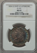Bust Half Dollars, 1834 50C Large Date, Large Letters MS62 NGC. O-101, R.1....