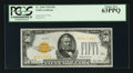 Small Size:Gold Certificates, Fr. 2404 $50 1928 Gold Certificate. PCGS Choice New 63PPQ.. ...