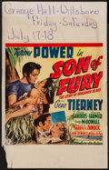 "Movie Posters:Adventure, Son of Fury (20th Century Fox, 1942). Window Card (14"" X 22"").Adventure.. ..."