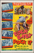 "Movie Posters:Rock and Roll, Rock Baby Rock It (Freebar Distributors Inc., 1957). One Sheet (27""X 41""). Rock and Roll.. ..."