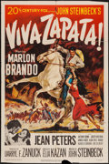 "Movie Posters:Drama, Viva Zapata! (20th Century Fox, 1952). One Sheet (27"" X 41""). Drama.. ..."