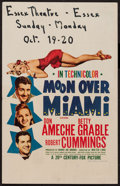 """Movie Posters:Musical, Moon Over Miami (20th Century Fox, 1941). Window Card (14"""" X 22"""").Musical.. ..."""