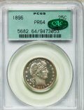 Proof Barber Quarters, 1896 25C PR64 PCGS. CAC....
