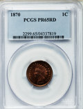 Proof Indian Cents, 1870 1C PR65 Red PCGS....