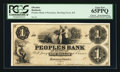 Obsoletes By State:Kentucky, Bowling Green, KY- Peoples Bank of Kentucky $1 G32 Hughes 70 Proof. ...