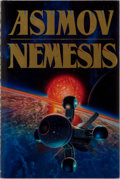 Books:Science Fiction & Fantasy, Isaac Asimov. INSCRIBED. Nemesis. Doubleday, 1989. First edition. Signed by the author on the title page. Publis...