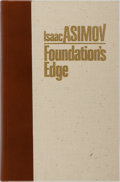Books:Science Fiction & Fantasy, Isaac Asimov. SIGNED LIMITED. Foundation's Edge. Whispers Press, 1982. Limited to 1000 hand-numbered copies sign...