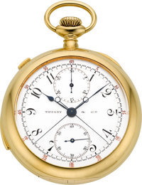 Patek Philippe Rare & Important Minute Repeater With Split Seconds Chronograph & Register For Tiffany &a...
