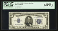 Small Size:Silver Certificates, Fr. 1654* $5 1934D Narrow Silver Certificate. PCGS Gem New 65PPQ.. ...