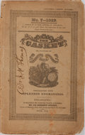 Books:Literature Pre-1900, Early American Literary Magazine The Casket Flowers ofLiterature, Wit and Sentiment. Samuel Coath Atkinson, 182...