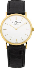 Timepieces:Wristwatch, IWC Ref. 2010 Portofino Ultra-Thin Gold Wristwatch. ...