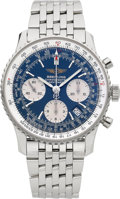 Timepieces:Wristwatch, Breitling Ref. A23322 Choice Chronometre Navitimer Steel Chronograph, Box & Papers. ...