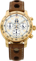 "Timepieces:Wristwatch, Chopard Ref. 1259 Limited Edition Rose Gold ""Chronograph Jacky Ickx Chronometer"", No. 020/250. ..."
