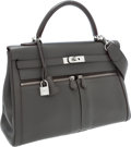 Luxury Accessories:Bags, Hermes Limited Edition 35cm Etain Swift Leather Kelly Lakis Bagwith Palladium Hardware. ...