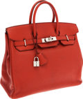 Luxury Accessories:Bags, Hermes 32cm Coq de Roche Chevre Leather HAC Birkin Bag withPalladium Hardware. ...