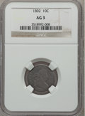 Early Dimes, 1802 10C AG3 NGC. JR-4, R.4....
