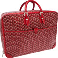 Luxury Accessories:Travel/Trunks, Goyard Red Chevron Monogram Canvas Ambassade Suitcase. ...